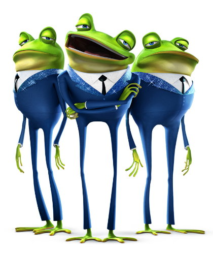 animated frogs