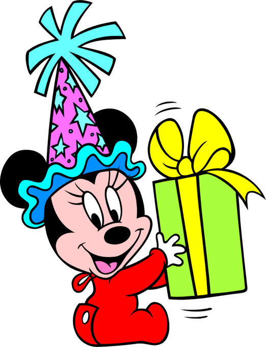 Baby Minnie Mouse Present