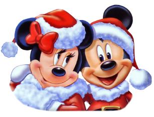 Christmas Minnie Mickey Claus