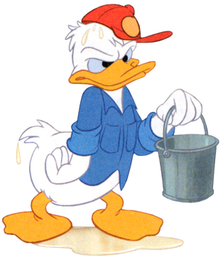 Donald Duck wet