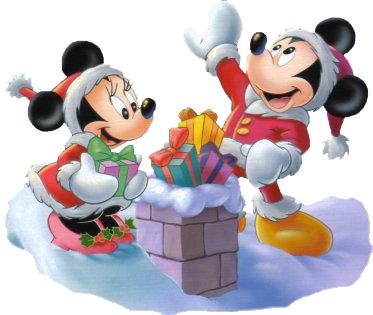 Mickey Minnie Mouse Christmas chimney
