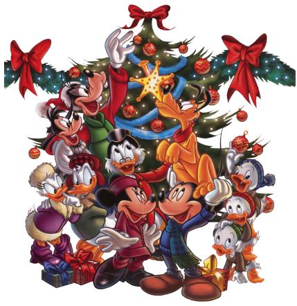 Mickey Minnie Mouse Christmas tree group