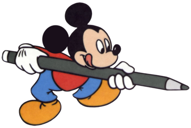 Mickey Mouse pencil
