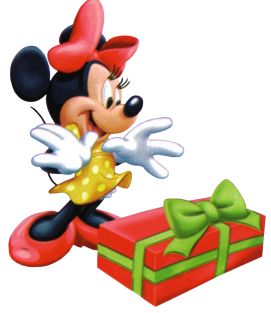 Minnie Christmas present surprise