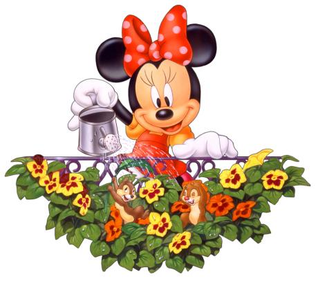 Minnie Mouse Chipmunks Garden